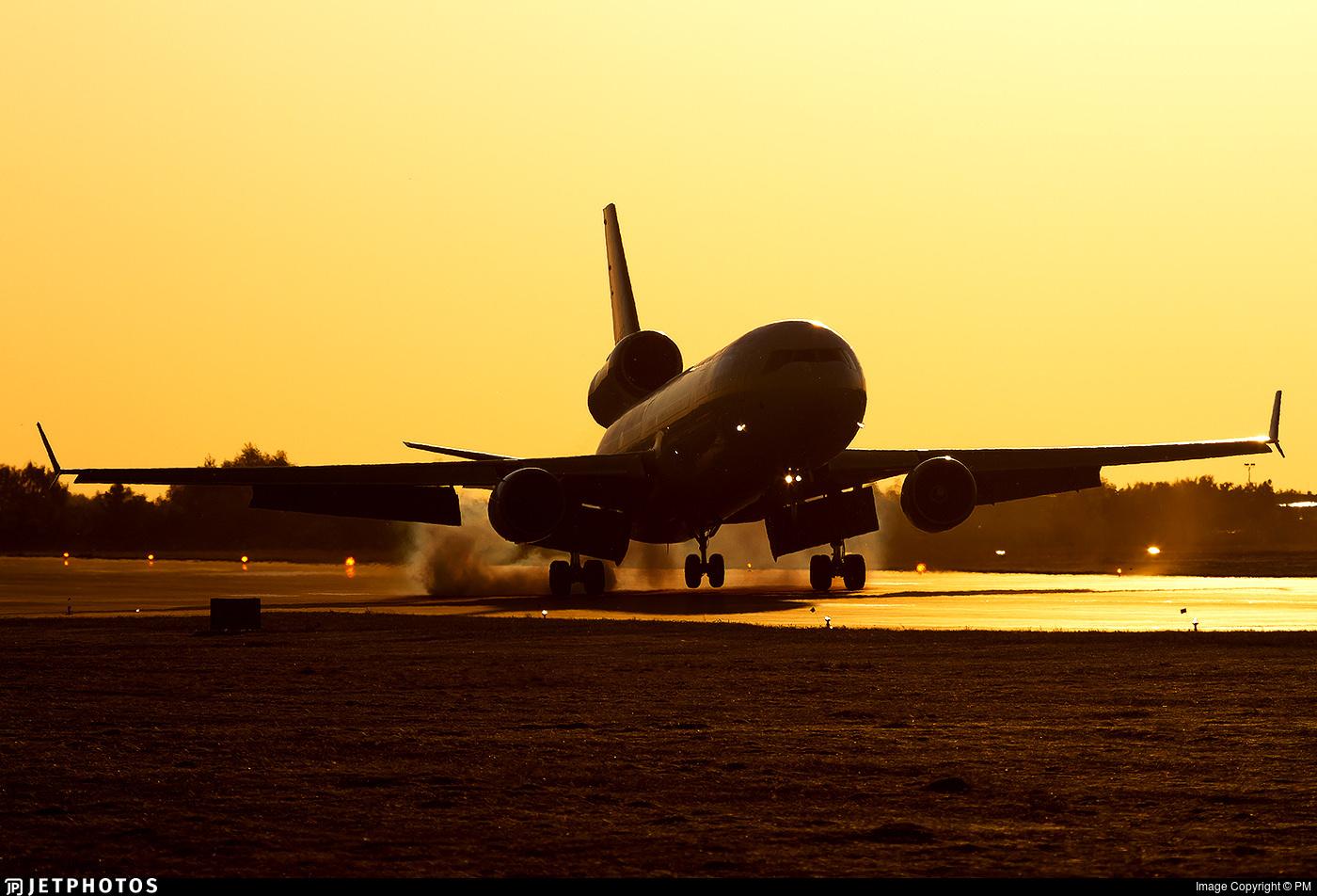 An MD-11 cargo aircraft