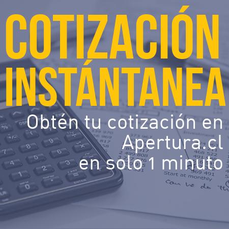 Obtén tu cotización formal en Apertura.cl en solo 1 minuto