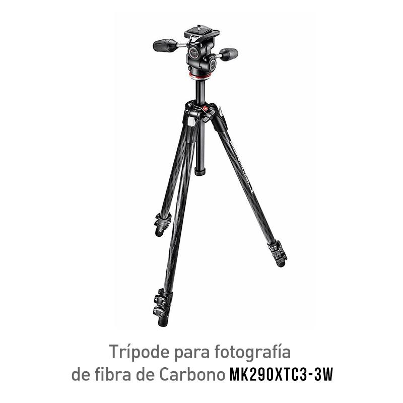 Manfrotto MK290XTC3-3W Trípode para Fotografía de Fibra de Carbono