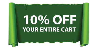 10 PERCENT off Your Entire Cart