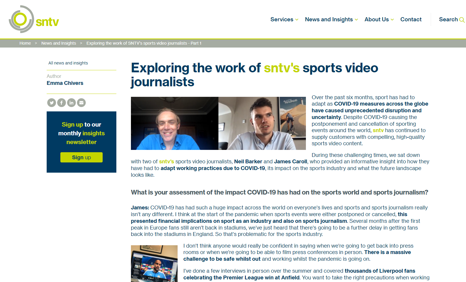 Exploring the work of sntv's sports video journalists