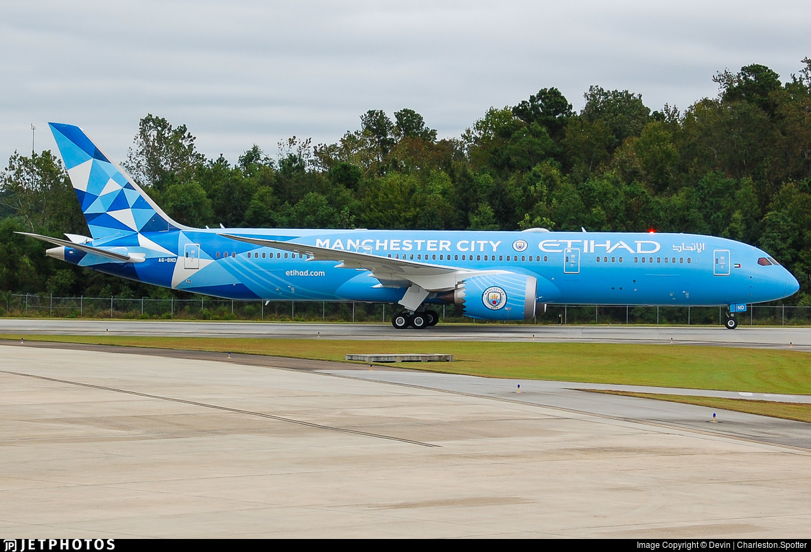 Etihad's new Manchester City special livery 787