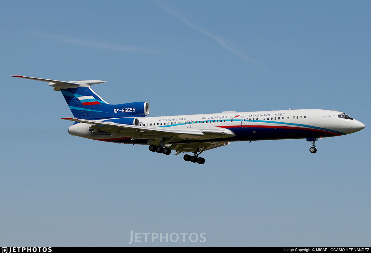 A Russian Air Force Open Skies Tu-154