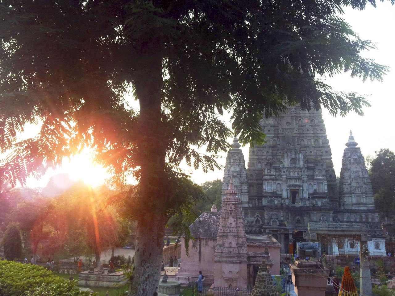 Bodhgaya by sunrise