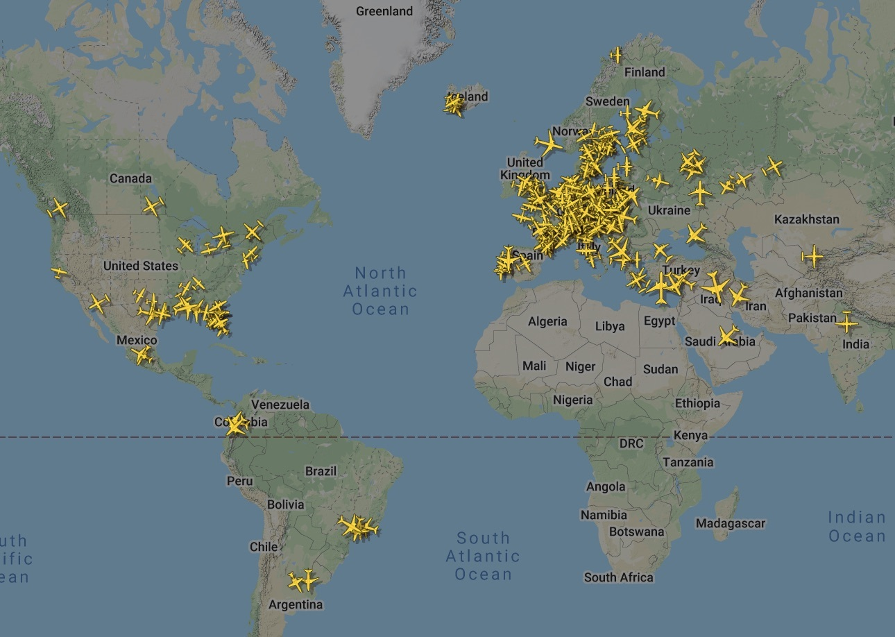 Flights tracked with MLAT
