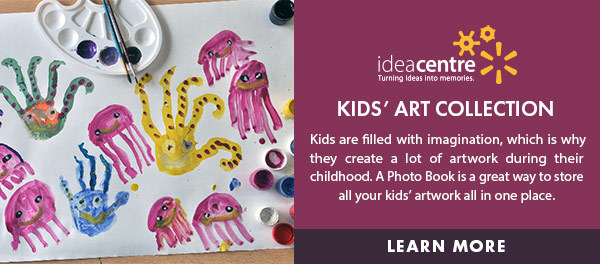 Idea Centre: Kids' Art Collection - Kids are filled with imagination, which is why they create a lot of artwork during their childhood. A Photo Book is a great way to store all your kids' artwork all in one place. Learn more.