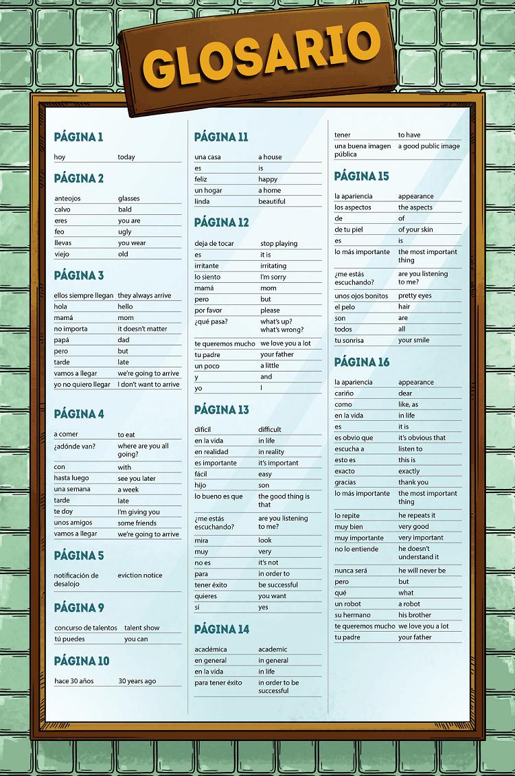 Me llamo Víctor, Parte 1 - Glossary