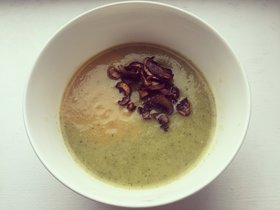 summer squash soup with mushrooms
