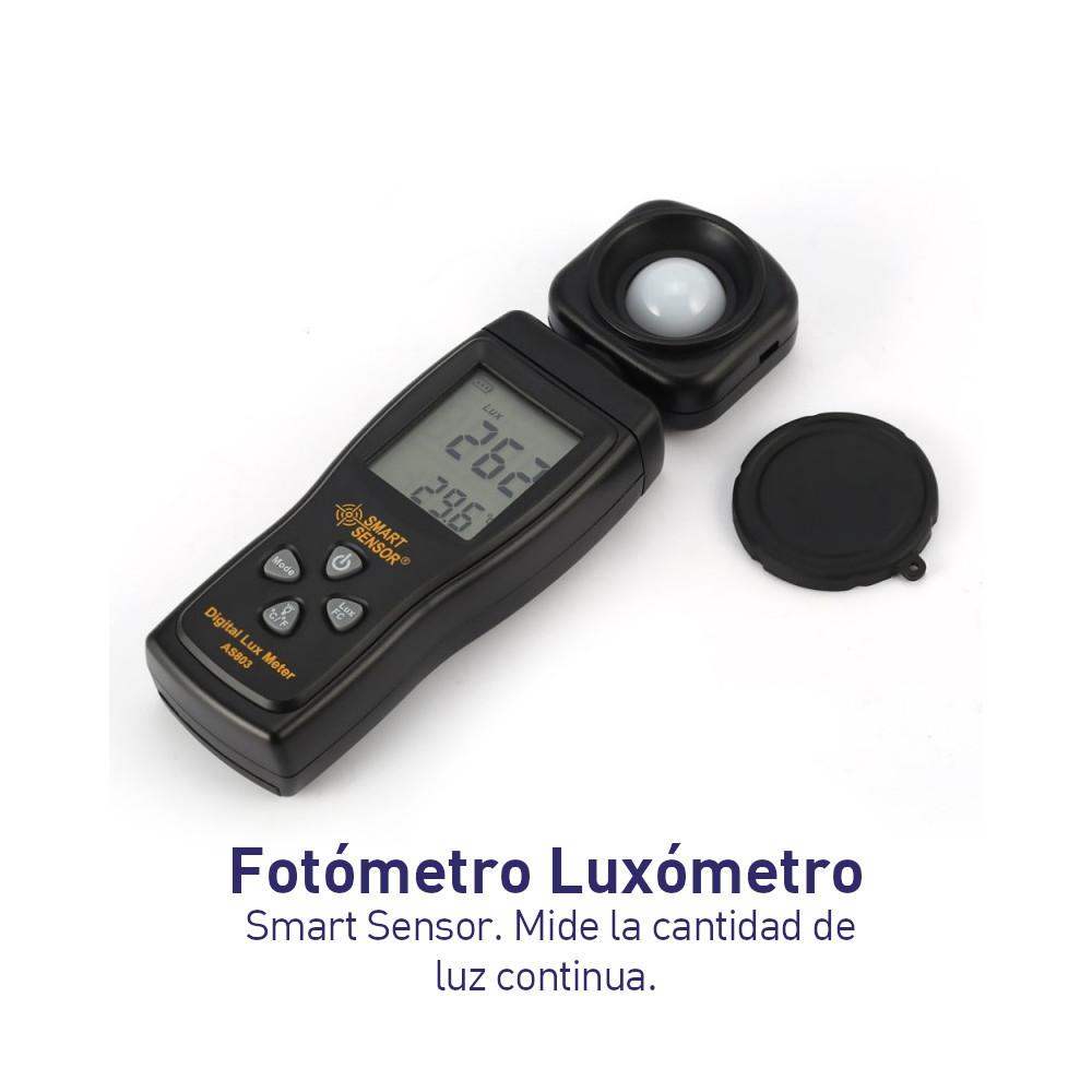Fotómetro Luxómetro Smart Sensor - Mide la cantidad de luz continua