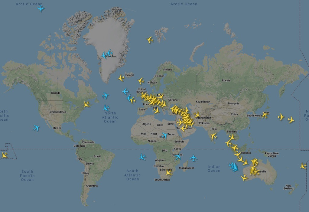 Active A380s on 13 March