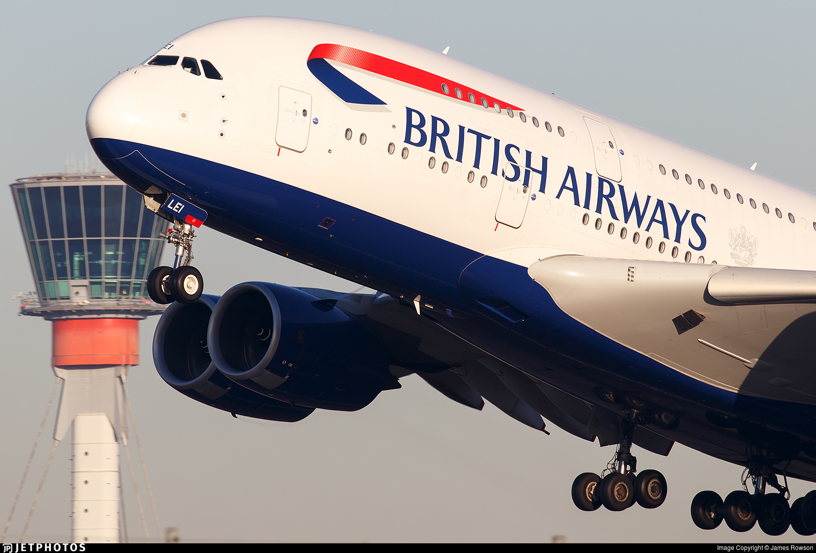 British Airways A380 departing London