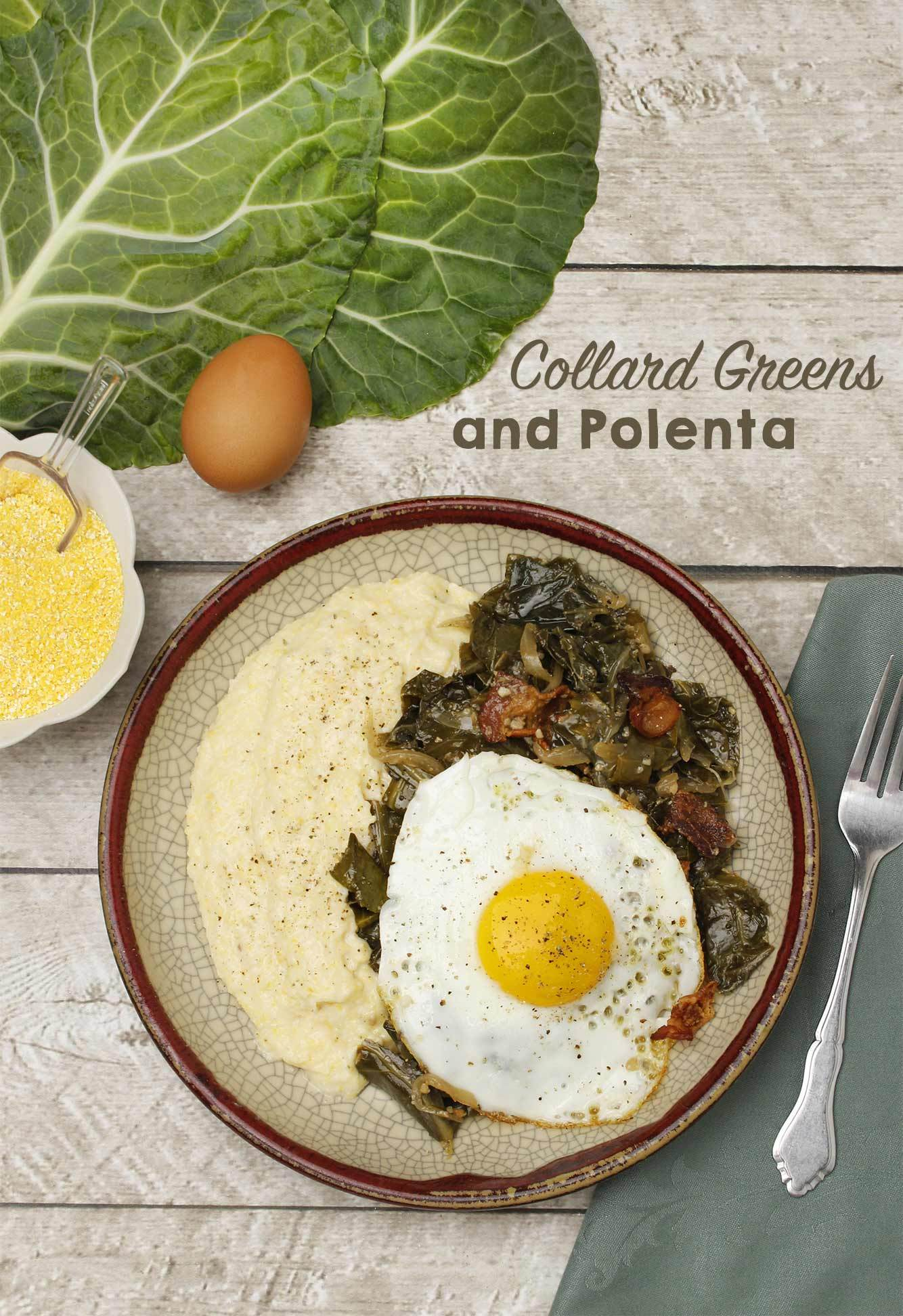Collard Greens with Polenta