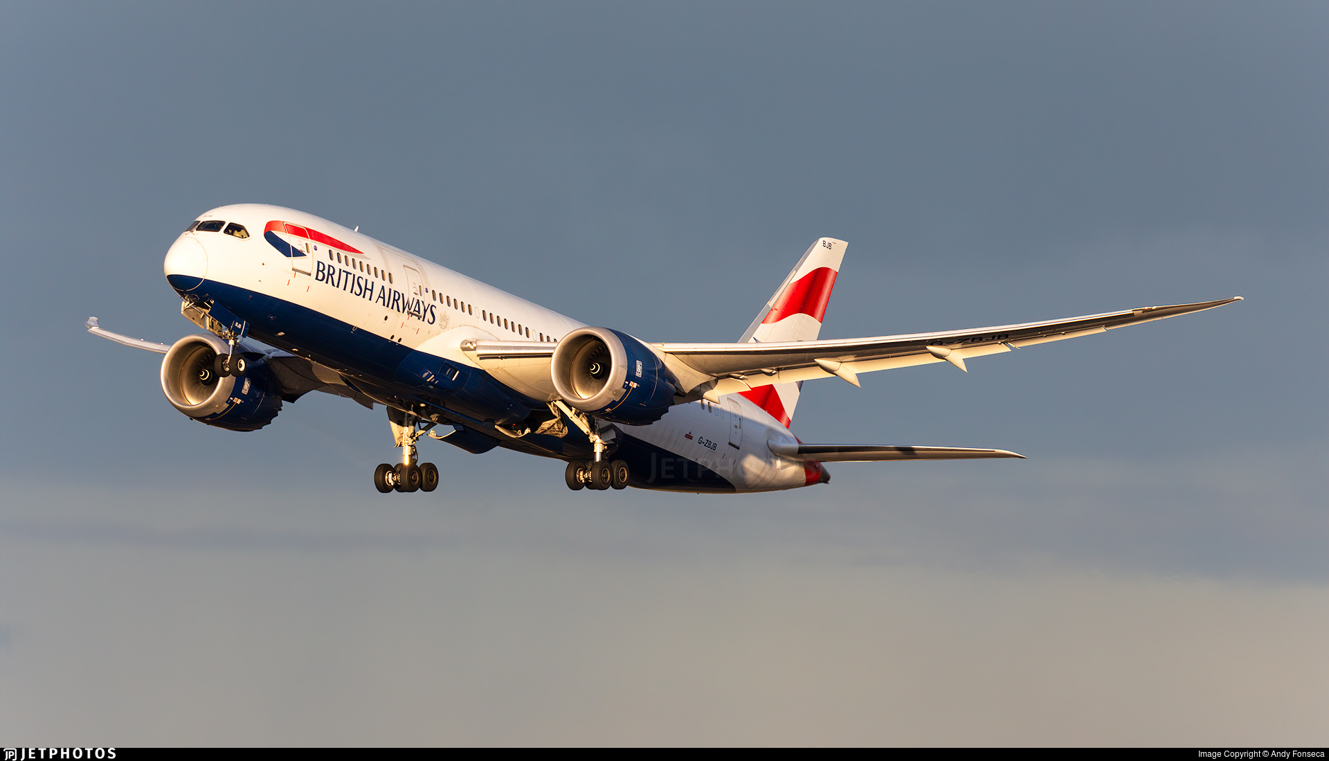 Stock image of G-ZBJB departing London
