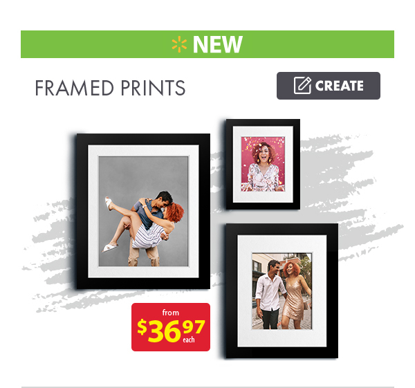 New Framed Prints from $36.97 each. Create.