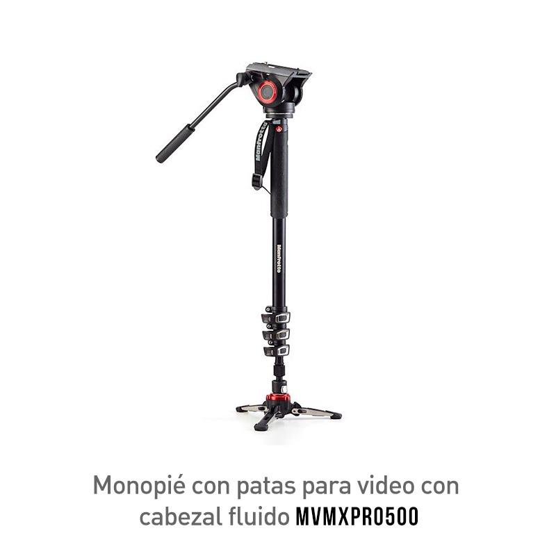 Manfrotto MVMXPRO500 Monopié Con Patas Para Video Con Cabezal Fluido