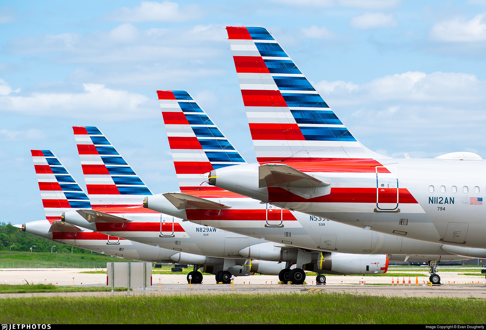 American Airlines aircraft in storage