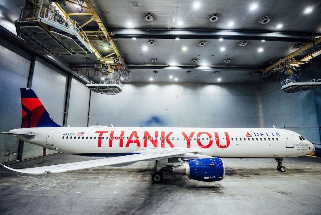 Delta's thank you A321