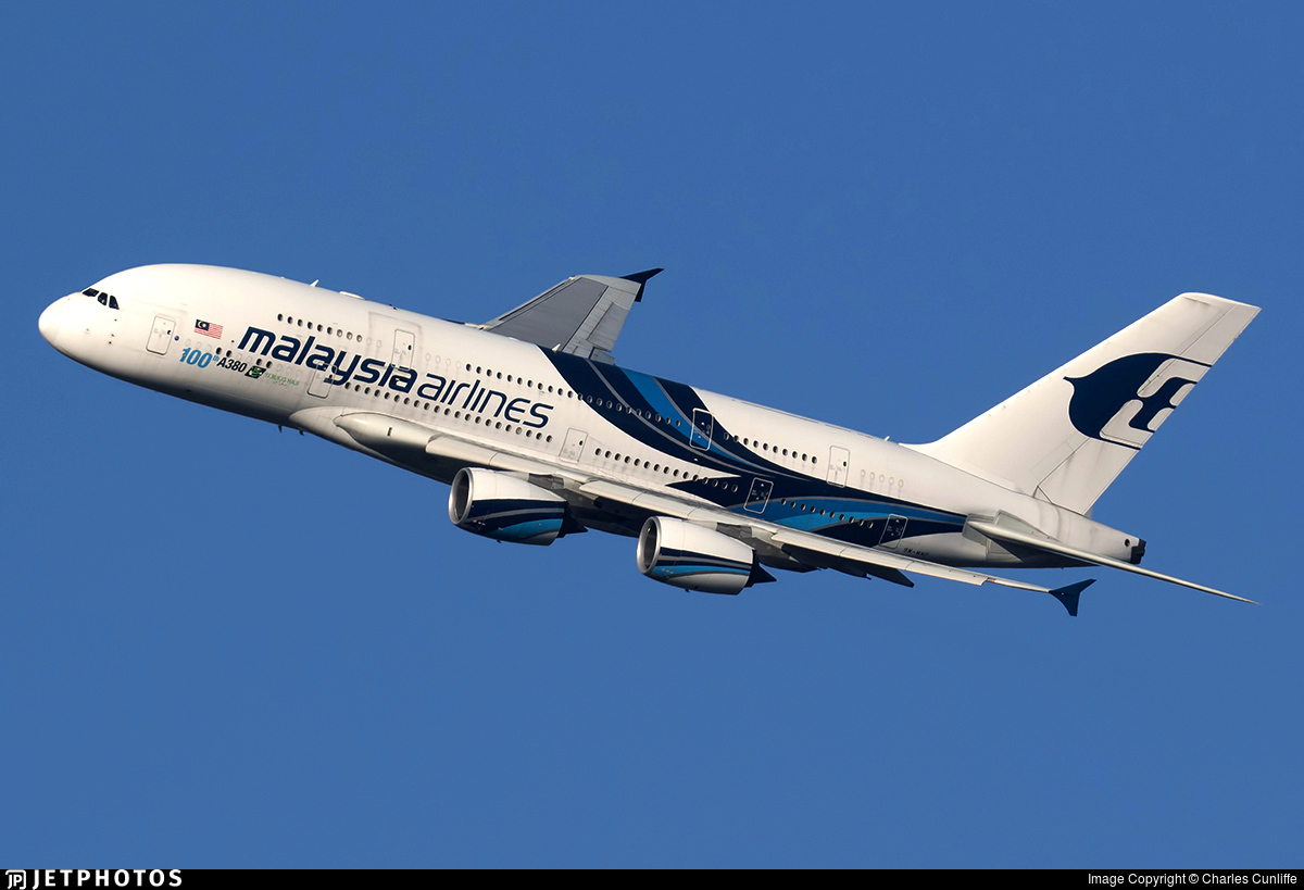 A Malaysia Airlines A380