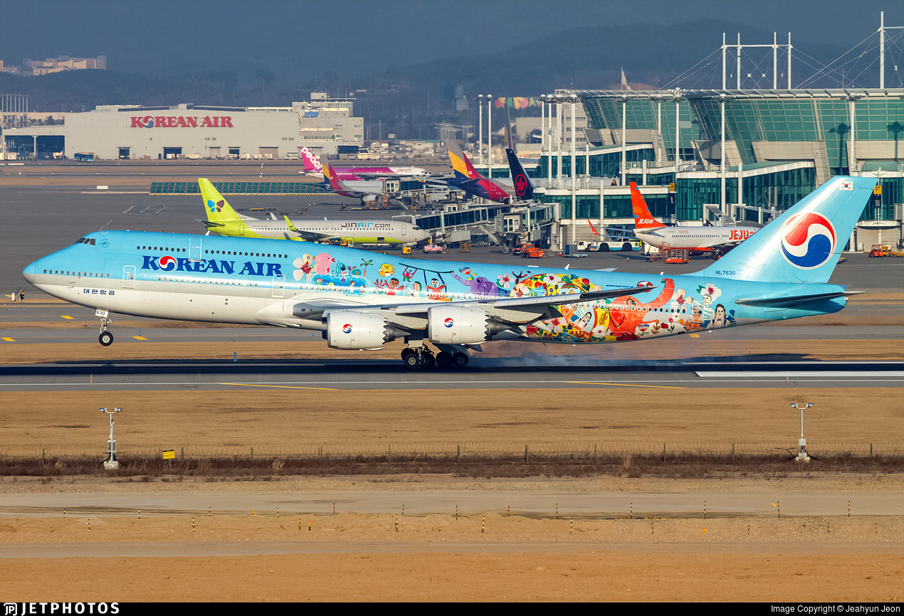 Korean Air's Children's drawing livery 747