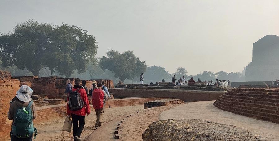 Chinese Pariyatti pilgrims at Sarnath Deer Park