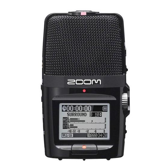 Grabadora de Audio Portátil ZOOM H2n con 5 micrófonos incorporados