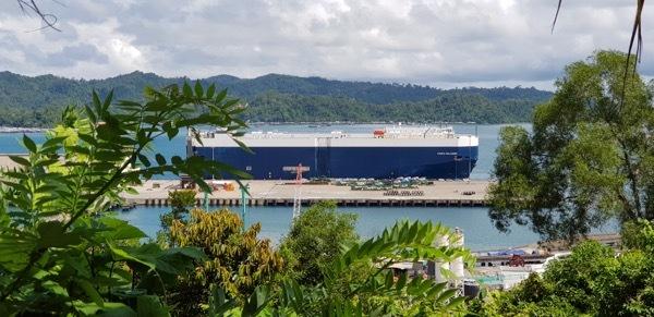 Roro vessel in Kota Kinabalu