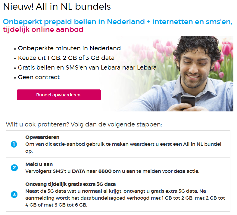 Lebara NL Bundel