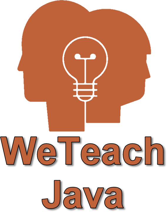 We Teach Java Logo