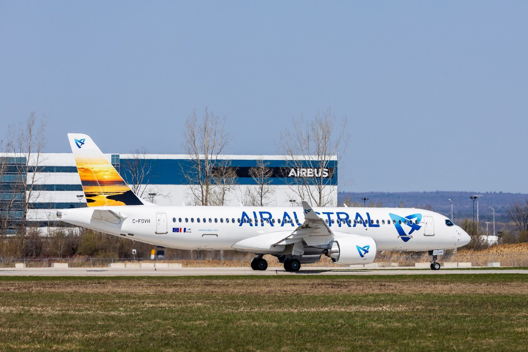 Air Austral's first A220
