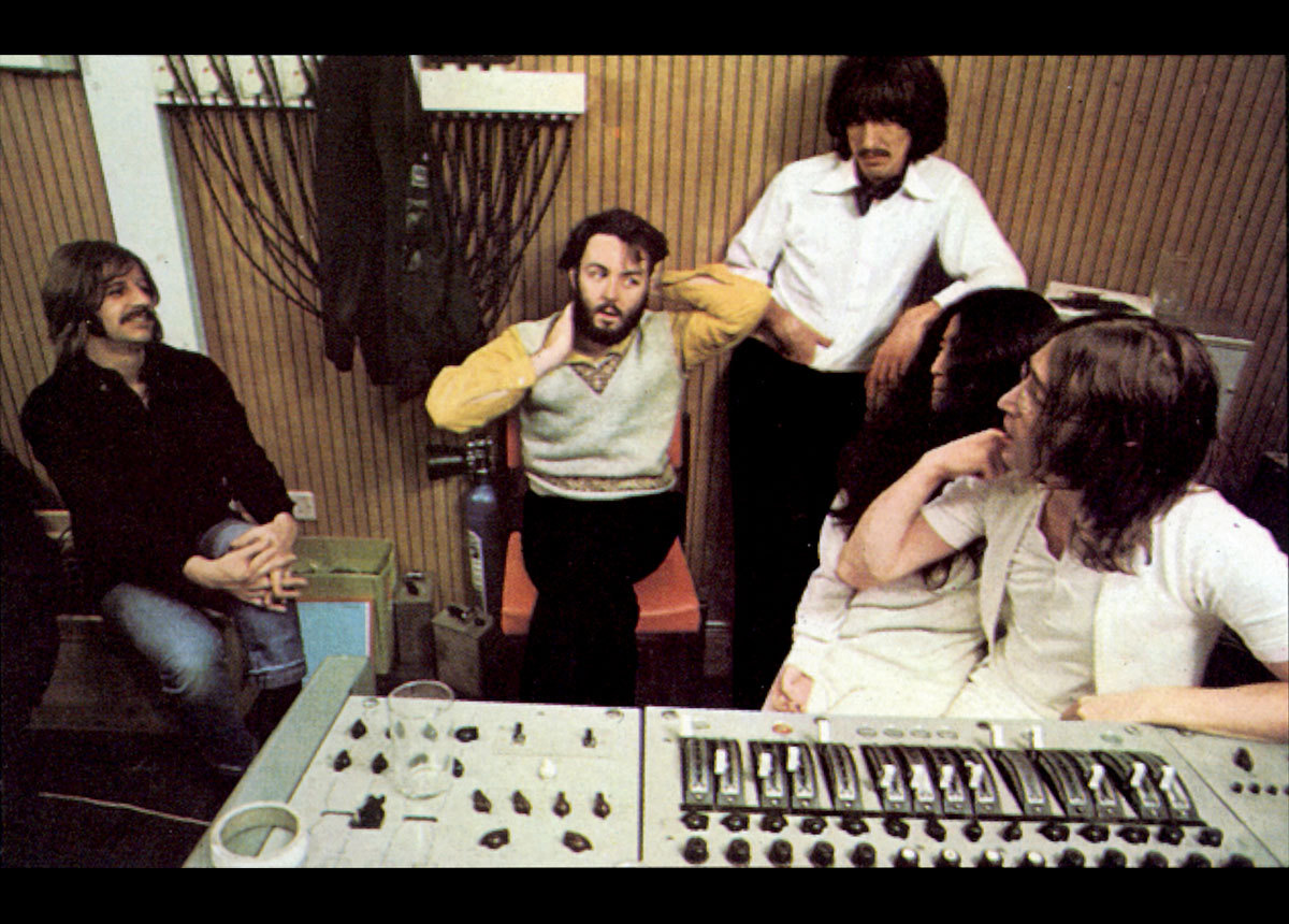 The Beatles in the studio