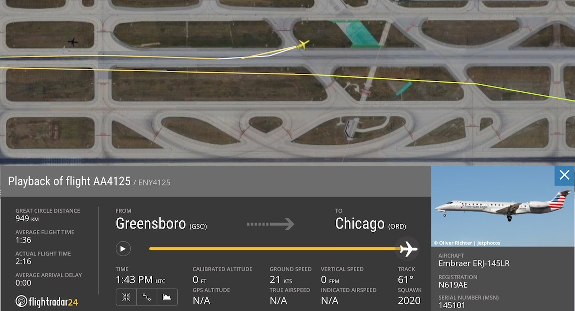 AA 4125 Flight Path and runway excursion