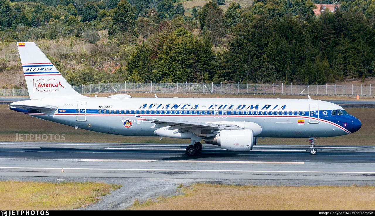 Avianca retro jet A320