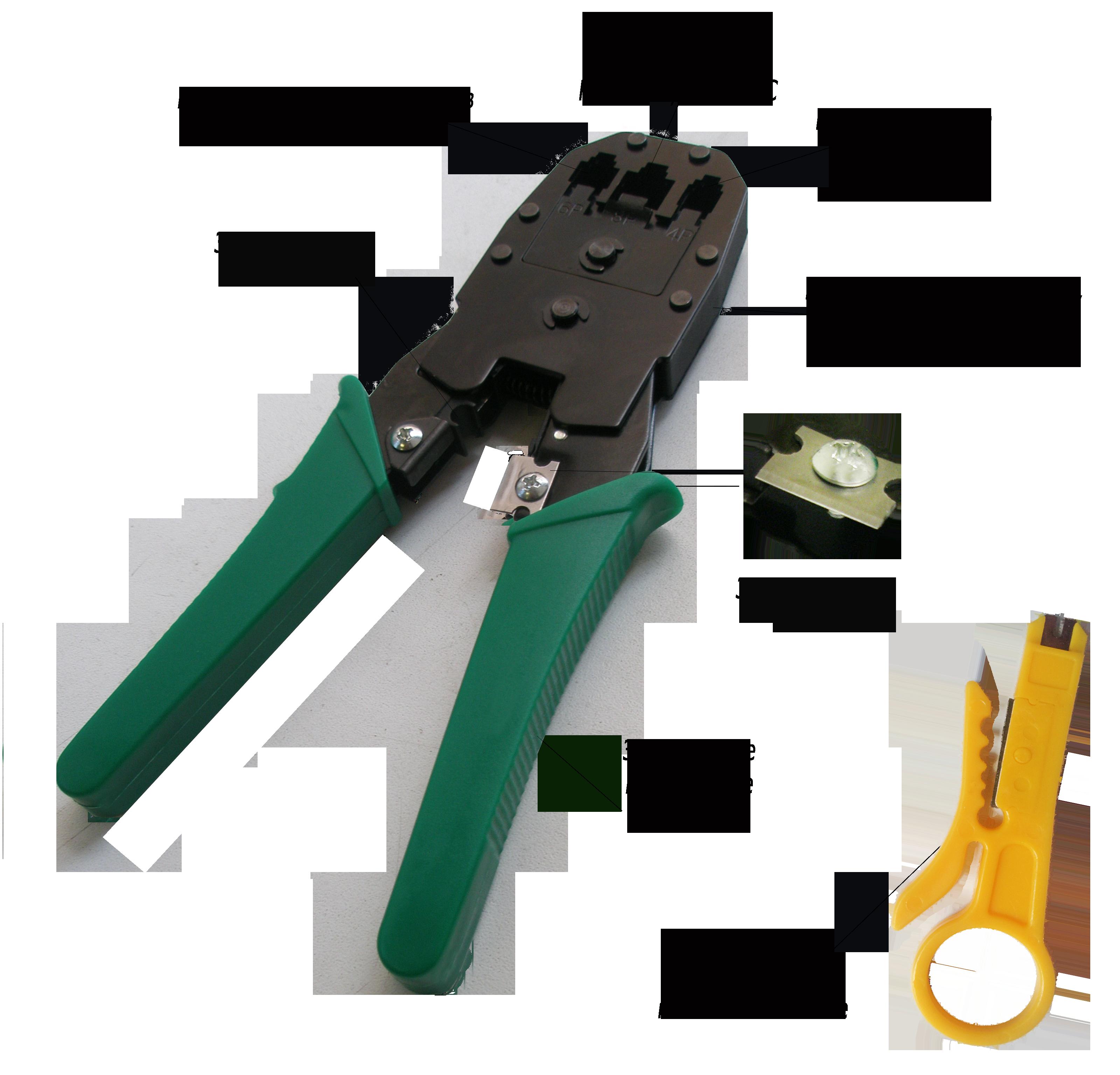 009-100002Кримпер для обжима 8P-8C / 6P-6C / 4P-4C (HT-200),(HT-315)