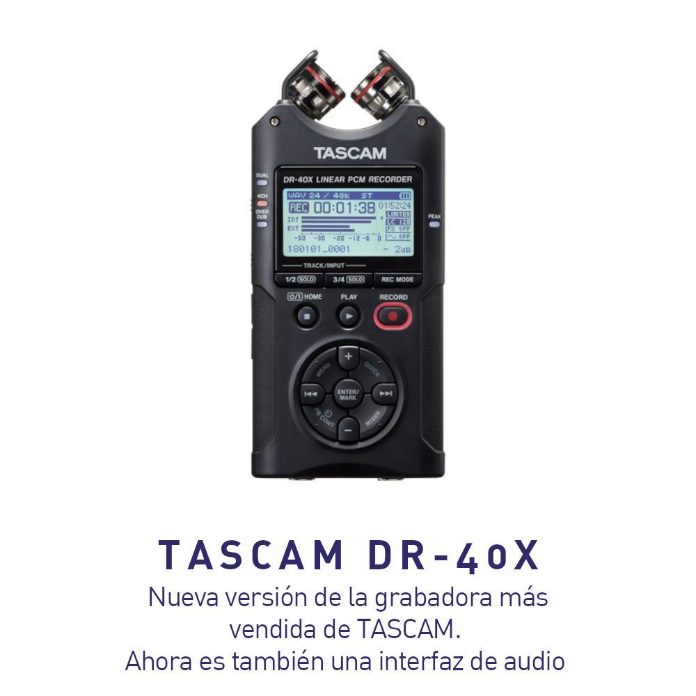 Grabadora de Audio Tascam DR-40X