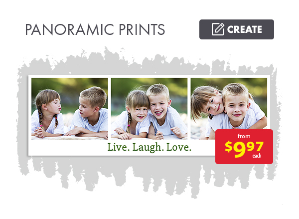 Panoramic prints from $9.97 each. Create.