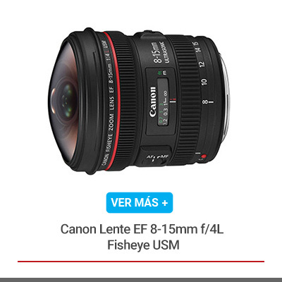 Canon Lente EF 8-15mm f/4L Fisheye USM