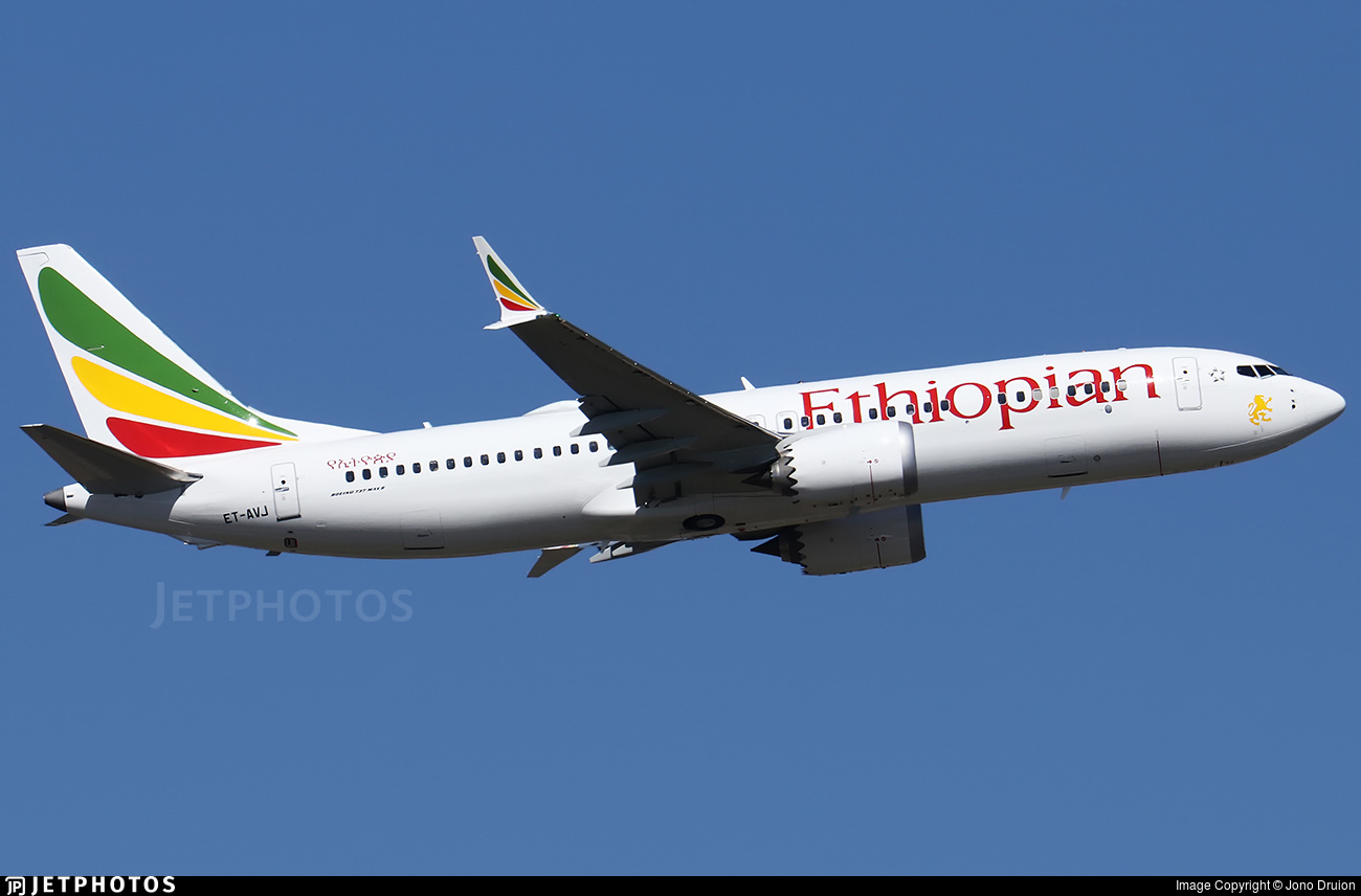 An Ethiopian Airlines 737-8 MAX