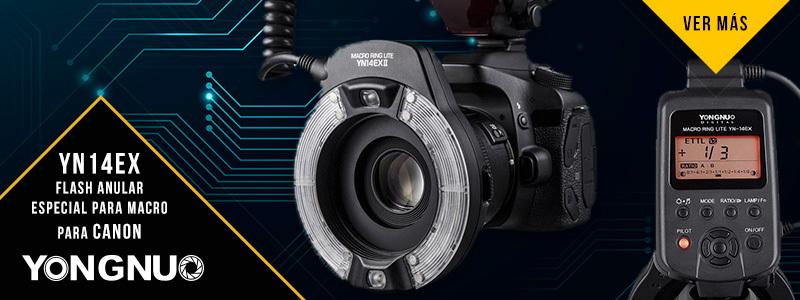 YN14EX Flash Anular especial para Macro para Canon
