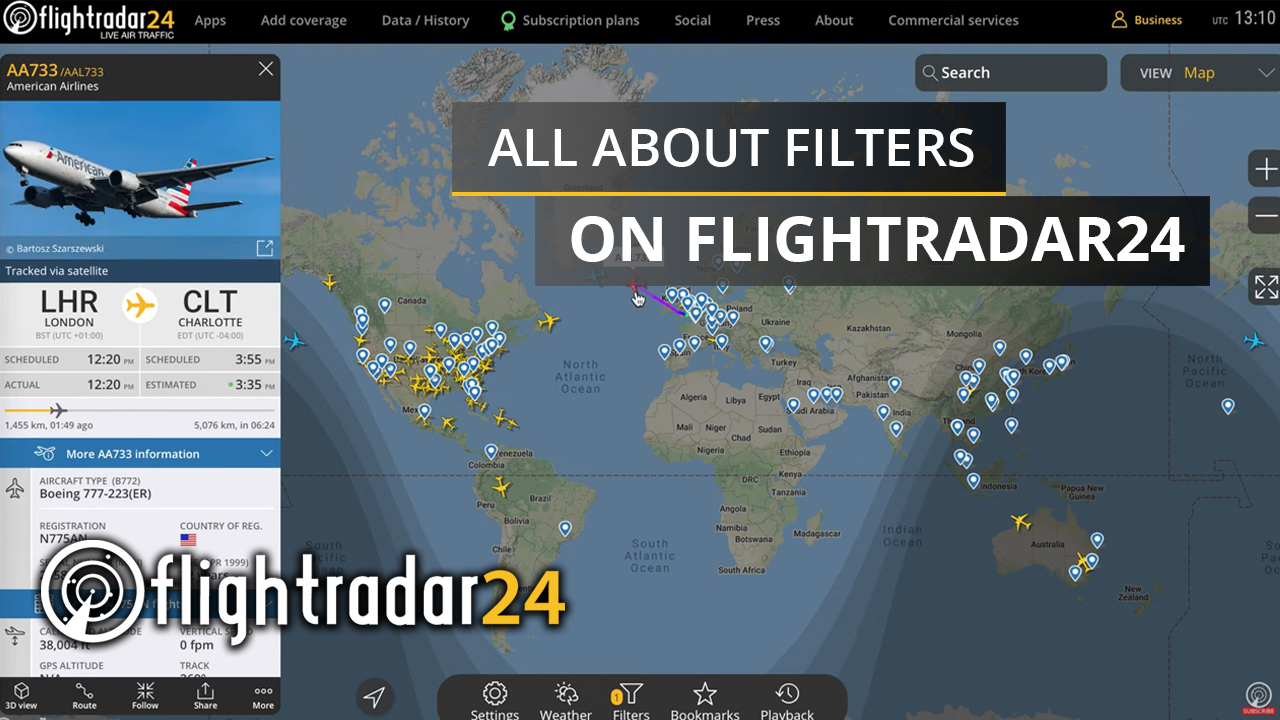 All about Filters on Flightradar24 video title card