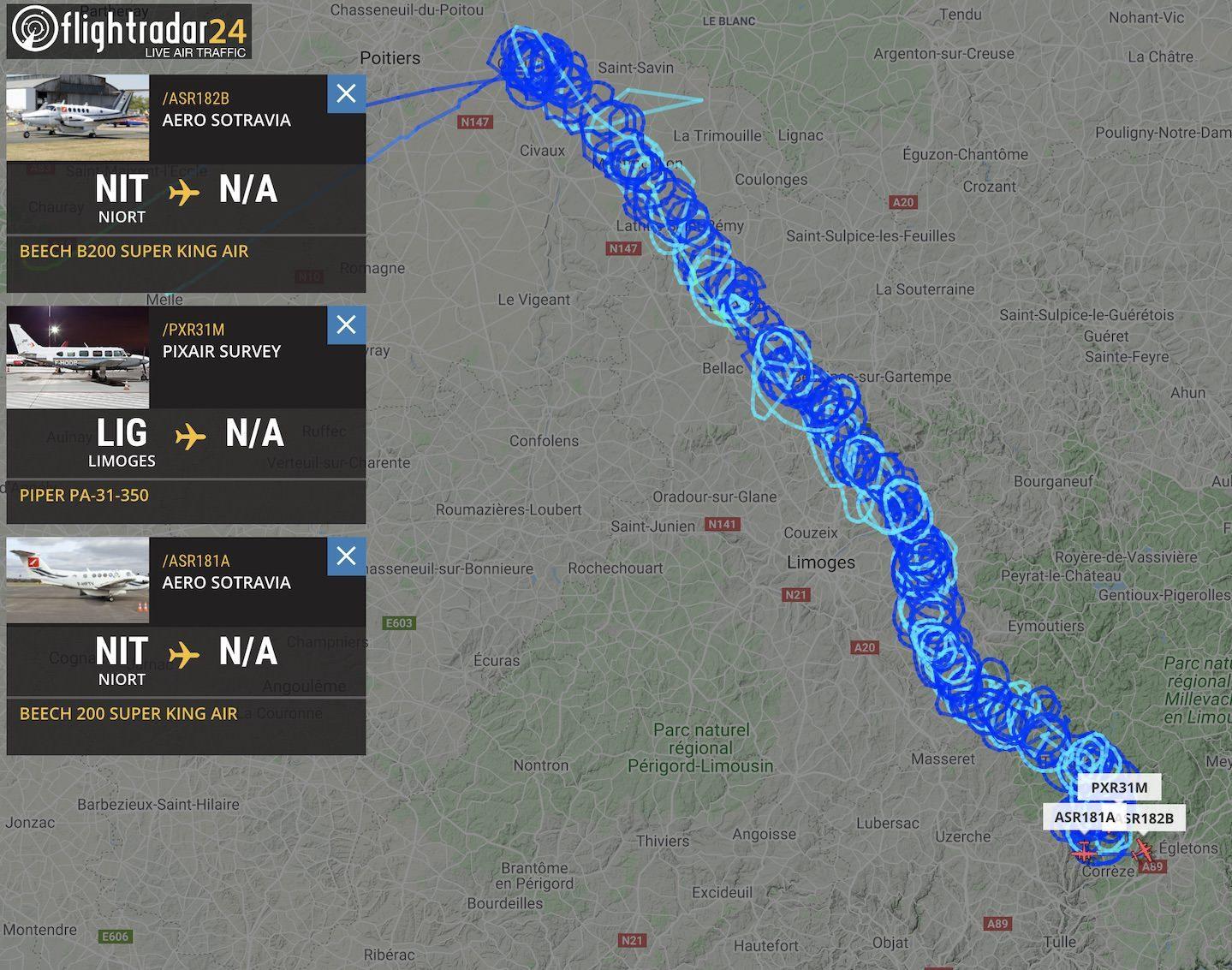 Tour de France television relay aircraft