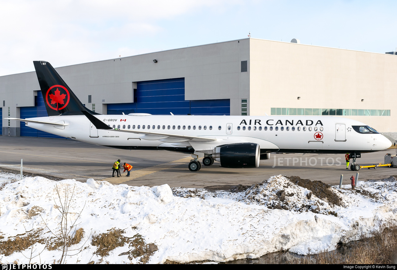 First Air Canada A220
