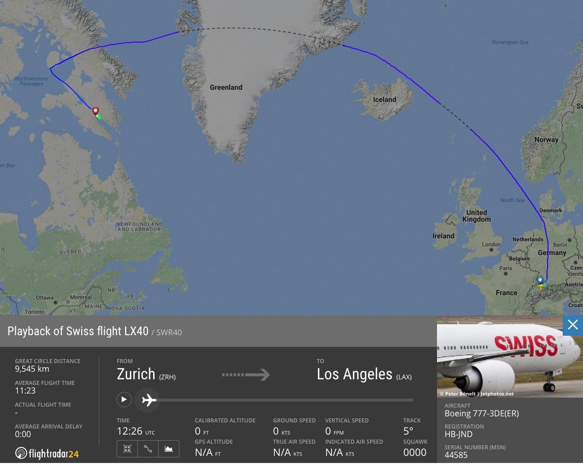 LX40 flight path