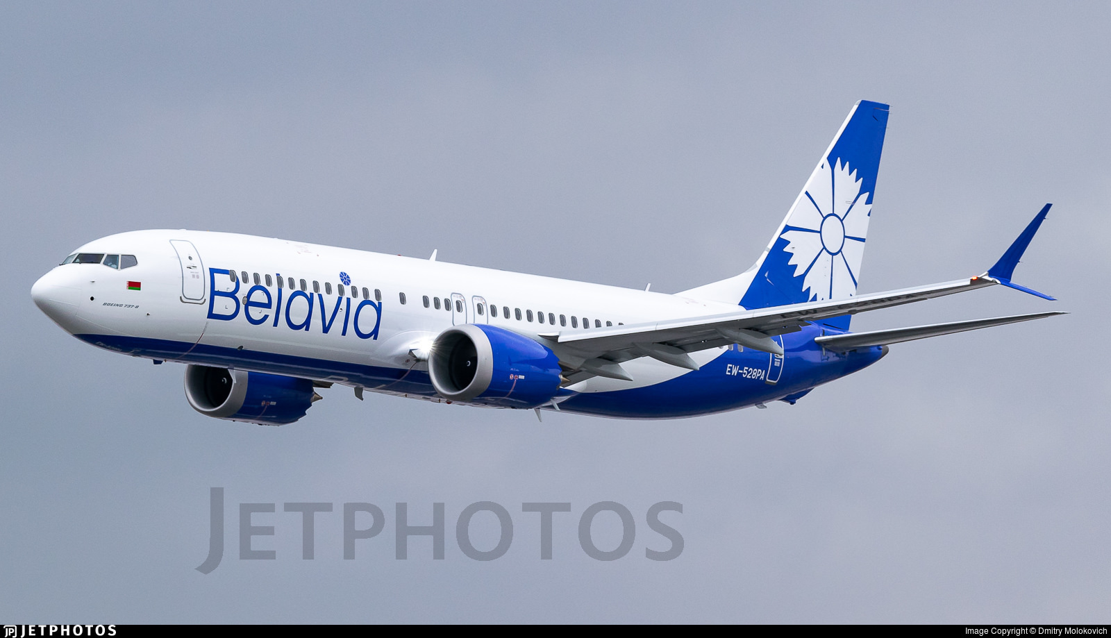 A Belavia 737-8, one of the aircraft affected by the current grounding