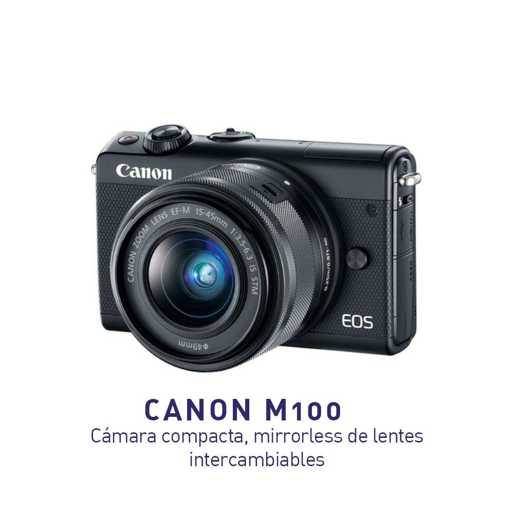 Canon M100: Compacta, Mirrorless, Lentes intercambiables y Hermosa!