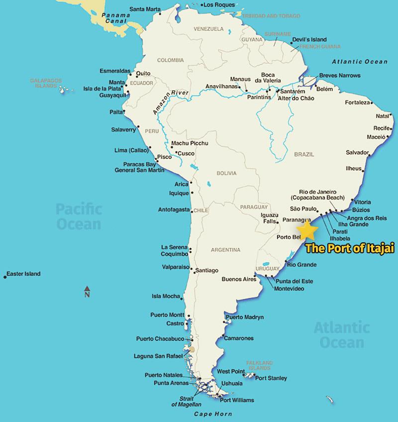 Port of Itajai Map