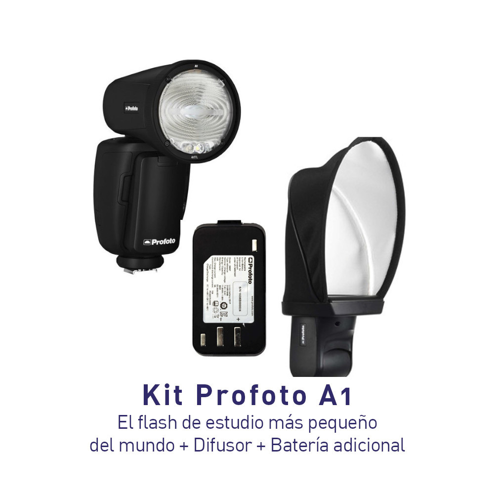 KIT - Profoto A1 + Difusor Soft Bounce + Batería Adicional