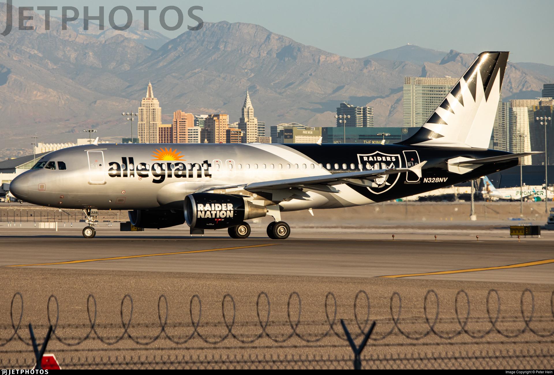 Allegiant Las Vegas Raiders A319
