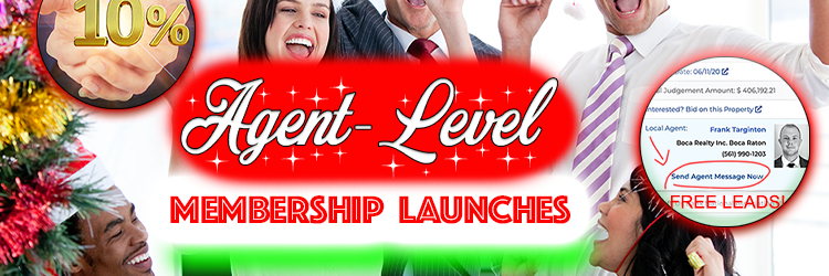 Our Real Estate Agent Level Membership Launches with 10% Commissions