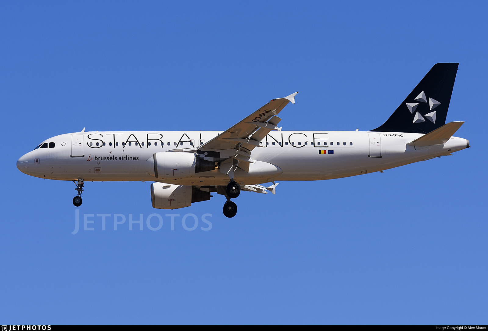 OO-SNC in new Star Alliance livery