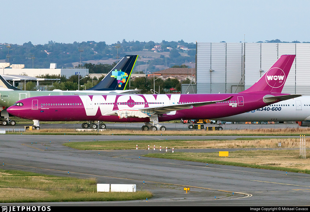 An A330neo originally destined for WOW Air